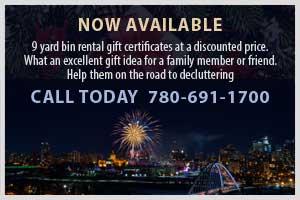 9 Bin Rental Gift Cert - call now 780-691-1700